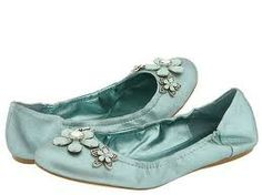 Baby blue flats just adorable.  I know these are blue but fashion is about fun - so these can easily be paired with anything that makes your heart sing!  #flats  #blueflats