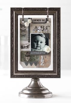 Gorgeous creation by Shari Carroll using the Tim Holtz Flip Frame for the Simon Says Stamp Blog.