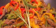 Biftek  u woku sa paprikom