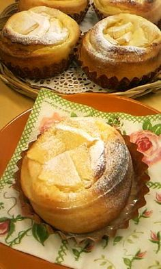 apple and custard filled pastry