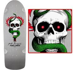 like my board from the late 80's. Only the BG is black. Bones Brigade Reissue Skateboard Deck Powell Mike McGill Pro Model Silver | eBay