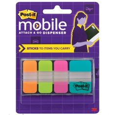 Post-it Mobile Attach and Go Tabs Dispenser, Bright Colors, 5/8 x 1.5-Inch and 1 x 1.5-Inch Tabs, 40-Pack (PM-TABS1) Post-it http://www.amazon.com/dp/B00AQEE0CY/ref=cm_sw_r_pi_dp_T57.ub172M2YR