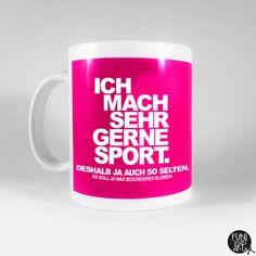"""Becher & Tassen - Spruchtasse """"Sportskanone."""" - ein Designerstück von FUNI-SMART-ART bei DaWanda"""