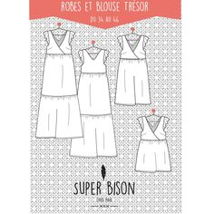 Patron Dress and Women& Summer Treasure Blouse (PDF) Laura Lee, Super Bison, Make Your Own Clothes, Fitness Gifts, Couture Sewing, Love Sewing, Sewing Diy, Casual Summer Dresses, Sewing Clothes