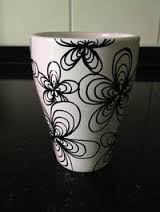 Resultado de imagen para decorar vajilla con zentangle