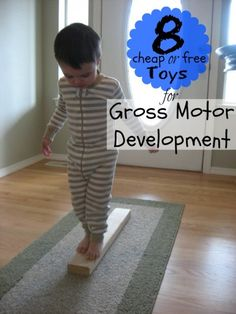 8 Cheap or Free Toys for Gross Motor Development | Tipsaholic.com #kids #toys #free #development #play