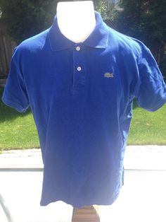 Vintage Blue Short Sleeve Lacoste Polo by MajorDivision on Etsy https://www.etsy.com/listing/238329442/vintage-blue-short-sleeve-lacoste-polo