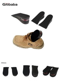 [Visit to Buy] Air cushion Increasing Orthotics Insole Lift Insert Pad Height Cushion Taller Male Female Footwear Shoes Height Cushion Taller  #Advertisement