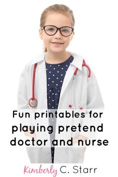 Do your kids like pretending to be doctors or nurses? Get all of the 'paperwork' they need to play hospital - complete with prescription notepad and diagnosis sheet via this free printable. Games For Toddlers, Activities For Kids, Learning Activities, Nurse Games, Nursing Printables, Playing Doctor, Dramatic Play Centers, Let's Pretend, Parenting Hacks