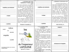 Les enquêtes policières au cycle 3 Cycle 3, Detective Theme, 3rd Grade Reading, French Class, Work Activities, Teaching French, Reading Material, Learn French, Mini Books
