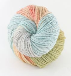 Gosh, that's a bit pretty isn't it...hand dyed merino worsted yarn 'mermaid' by twisttwine on Etsy