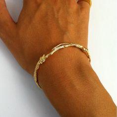 BRANCHES cuff bracelet gold filled | Linda Friedrich Jewelry