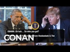 Trump Calls Obama To Talk Inauguration Guests  - CONAN on TBS - YouTube