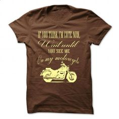 Wait until you see me on my motorcycle - #floral tee #hoodie for girls. CHECK PRICE => https://www.sunfrog.com/LifeStyle/Wait-until-you-see-me-on-my-motorcycle-Brown-56051321-Guys.html?68278