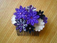 落ち着いた紫のコーム