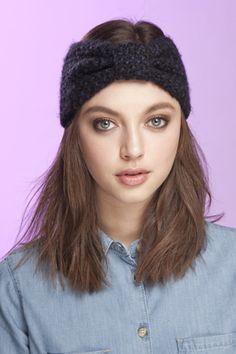 knit headband - Looks easy enough to make!