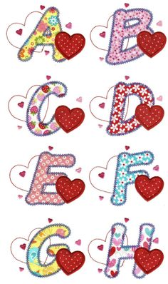 Embroidery Designs | Applique Machine Embroidery Designs | I Love Applique Alphabet