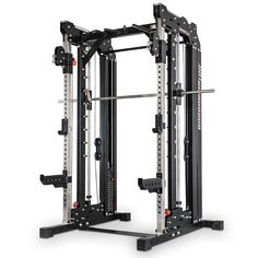 The Barbarian Line Smith Cable Rack, now with weight stacks, combines three great training platforms into one unit. Pull Up Station, Pull Up Bar, Home Gym Equipment, No Equipment Workout, Fitness Equipment, Home Multi Gym, Half Rack, Cable Machine, Olympic Weights