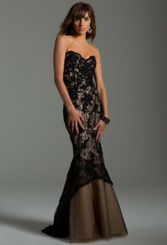Lace Beaded Kick Out Gown from Camille La Vie and Group USA modeled by Aliana Lohan #homecomingdresses #dresses