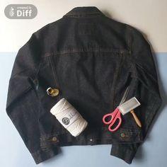 Diy Clothes Refashion, Interior Design Work, Big Fashion, News Design, Tired, Summertime, Bomber Jacket, Denim, Sewing