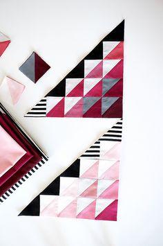 Modern Quilt Patterns, Quilt Patterns Free, Patch Quilt, Quilt Blocks, Braid Quilt, Dear Jane Quilt, Batik Quilts, Half Square Triangles, Chevron Quilt