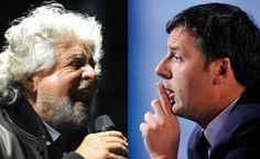 """Il timore di Grillo: """"Renzi punta ai miei elettori"""". E lo insulta"""