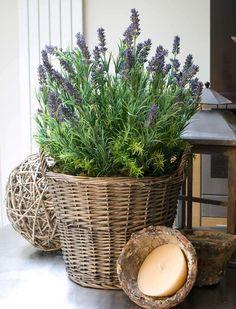 Lavender Basket   RTfact   Artificial Silk Flowers. GBP 98.95.