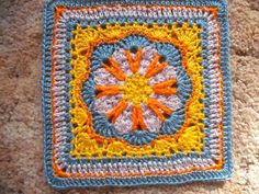 "Ravelry: Tussy-Mussy 12"" square pattern by Rebecca Bisbing....Pattern is free until May 31 2013, thanks so xox"