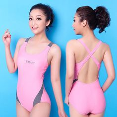 One Piece Swimwear - I love this. Crossed back and low leg holes. Cute and functional.