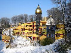 Hundertwasserhaus Gruga Essen NRW Germany, via Flickr.