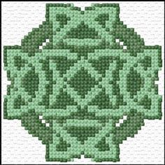 free cross stitch chart celtic knot in cross