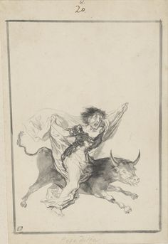 Pesadilla (Nightmare) by Fransisco Goya, black ink and wash. Collection The Morgan Library & Museum, New York City.