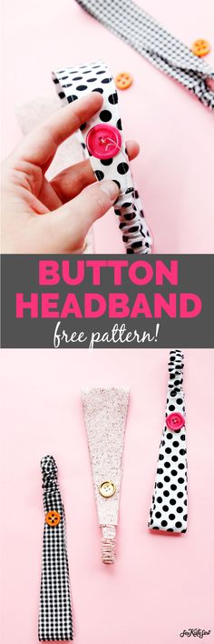 Nurse Headband with Buttons Pattern - see kate sew