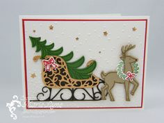 Traîneau de Noël avec Stampin'UP! Superbe carte de Noël à réaliser avec Jardin…