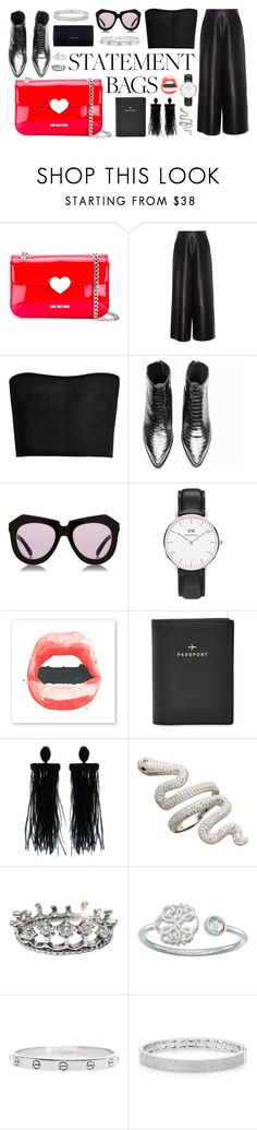 """""""Love on top"""" by sophia-a-a-a ❤ liked on Polyvore featuring Love Moschino, Lanvin, Balmain, Karen Walker, Daniel Wellington, FOSSIL, Oscar de la Renta, Alex and Ani, Cartier and Anne Sisteron"""