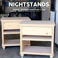 "SnapWidget | Do you call them nightstands or bedside tables? I'm sharing the #plans and #tutorial for these ""bed night tables"" today on the blog.  I designed the open back because my brother-in-law has a couple of vents that don't need to be blocked off. Per his request, this design is a hybrid of my master bedroom nightstands and my dad's printer table."