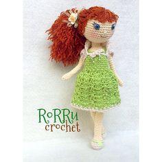 Curly Lanna with her green dress belongs to @bunbun47u7 so adorable ^^... #amigurumi #amigurumidoll #amidoll #crochet #crochetdoll #instacrochet #handmade #handicraft #doll #madebyorder #girly #friends #cute #tiny #boneka #bonekarajut #rajut #rajutboneka #rorrucrochet #Padgram