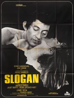 French poster for SLOGAN (Pierre Grimblat, France, 1969) Designer: uncredited Poster source: KinoArt.net