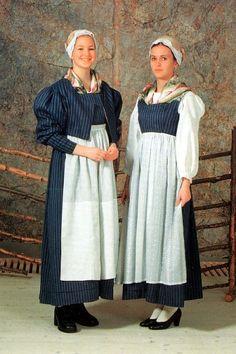 Traditional dress of the Kalajoki River region, Northern Ostrobothnia Costumes Around The World, Folk Costume, Bridesmaid Dresses, Wedding Dresses, Traditional Dresses, Dressing, Culture, Fish House, Ding Dong