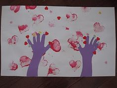 """A great craft to go with """"The Day it Rained Hearts""""... or just for fun!"""