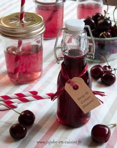 Syrup of cherries and / or cherries in syrup , Homemade Liquor, Homemade Sweets, Cherry Syrup, Sweet Sauce, Cocktail Drinks, Diy Food, Milkshake, Hot Fudge, Cooking Time