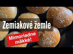 Domáce Zemiakové Žemle. Mimoriadne mäkké - YouTube Hamburger, Bread, Youtube, Food, Meal, Brot, Eten, Hamburgers, Breads