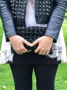 One of my favorite things to do is combine feminine styles with a little pop of flare. This rocker chic outfit is a perfect example of that. See it here: www.JessExplainsItAll.com