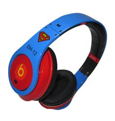 Monster Beats By Dre Studio Headphones Superman, For shop Visit our webstore: www. Buy Headphones, Studio Headphones, White Headphones, Cheap Beats, Beats Studio, Backpack For Teens, Beats By Dre, Pet Peeves, Gifts For Boys