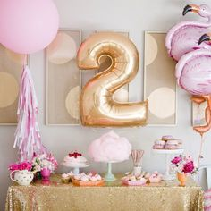 A flamingo themed birthday party also doubles as an adorable baby shower theme! (via Kara's Party Ideas) Pink Flamingo Party, Flamingo Birthday, Gold Birthday, Birthday Balloons, First Birthday Parties, Birthday Party Themes, First Birthdays, Birthday Invitations, Birthday Banners
