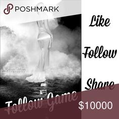 A New Posher's Follow Game! 💃🏽💃🏽💃🏽 Hi everyone! I'm still fairly new to PM and would love to reach as many fellow poshers as I can! Please like this post, follow me (and everyone else who likes), and share to spread the game! Then check back so we can grooooowwww! Thanks so much for playing!!! 😘 Other