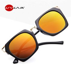 400e052d749 UVLAIK 90s Women Cat Eye Sunglasses Men Vintage Sun Glasses Female Cat Eye  Design Blue Black