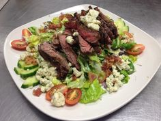 black & blue #steak #salad