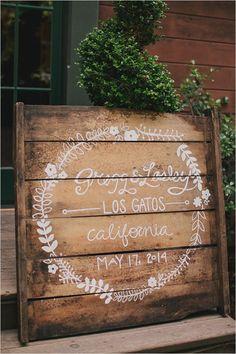 wooden pallet wedding sign   diy wedding decor   calligraphy wedding details   #weddingchicks