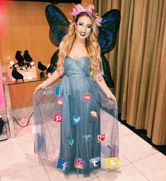 Another year as the MC for tonight's Halloween bash! Strapless Dress, Butterfly, Halloween, Formal, Beauty, Dresses, Style, Fashion, Strapless Gown